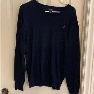 Boys Polo Ralph Lauren v-neck sweater XL navy